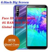 A21s smartphone 13mp rosto desbloqueado celulares 3g wcdma wifi 2sim mtk android 5.1 telefones celulares globais 4g ram 64g rom quad core