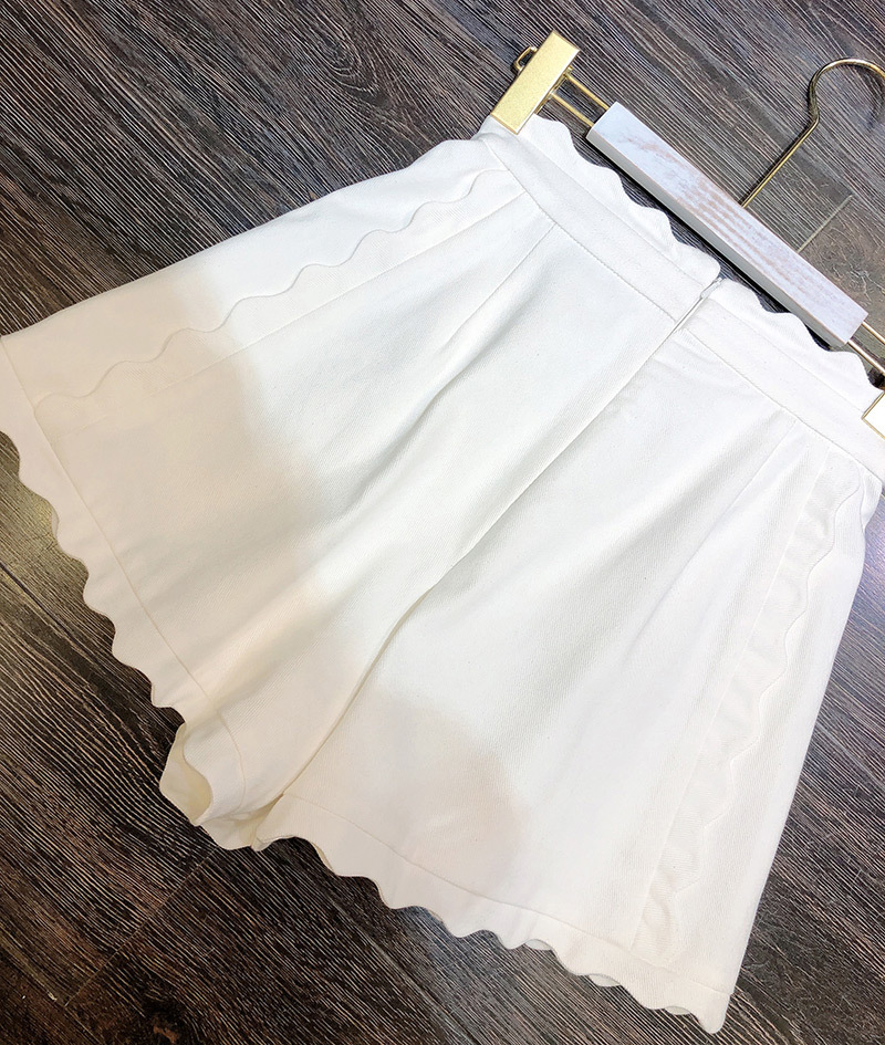 Linen & Cotton Flloral Printing High Waist Hot Short Pants - Ladies Stylish Shorts