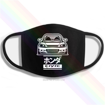 Honda Civic 6gen Type-R 6rd Car B16 B18 Printing Washable Breathable Reusable Cotton Mouth Mask image