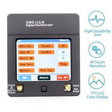 2MHz 5Msps New Mini Digital Oscilloscope TFT Touch Full Screen Oscilloscope Portable USB Oscilloscope Interface hantek 1008a digital pc usb oscilloscope generator vehicle 8channels testing 2 4msa s 2 0 interface automotive programmable