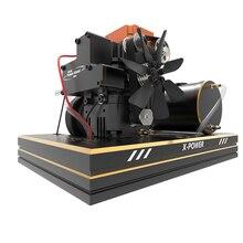 חדש מטחנת ארבעה שבץ מתנול FS S100A מנוע סט עם בסיס דלק טנק סוללה להתחיל ESC חם ראש חום ראש כובע מצערת Push