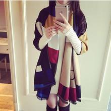 Зимний шарф s пашмины шали кашемировый для женщин роскошный