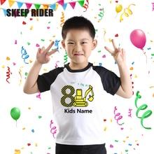 Short Sleeve T Shirt Summer Baby Boy Tractor Rib Neck Toddler Raglan Sleeves Girls Tops Unisex
