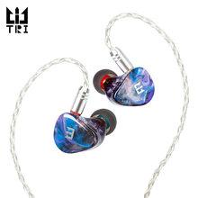 Tri starsea 2ba + 1dd unidade de motorista no ouvido fone alta fidelidade esporte música fone com 0.78mm 2 pinos conector tri i3