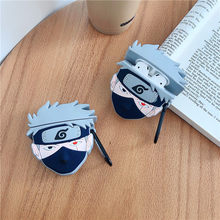 For AirPods Apple Case Japan Anime Naruto Kakashi Headphone Manga Case For Airpods 1 2 Silicone Case Accessories Protector Cover(China)