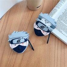 Pour AirPods 2 1 étui pour Apple japon Anime Naruto Kakashi casque Manga étui pour AirPods 1 2 Apple coque en Silicone housse de protection