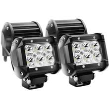4inch 18W LED Work Light Bar 24v 12V IP67 SPOT FOR 4x4 OFF ROAD ATV TRUCK BOAT UTV SPOTLIGHT