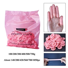 Anti-static Fingertips Protector Gloves For Food Cleaning  Disposable Pink Latex Rubber Finger Cots Cooking Accessories 900pcs cots disposable latex sets rubber non slip labor beauty massage nail profiling tattoo white finger cot