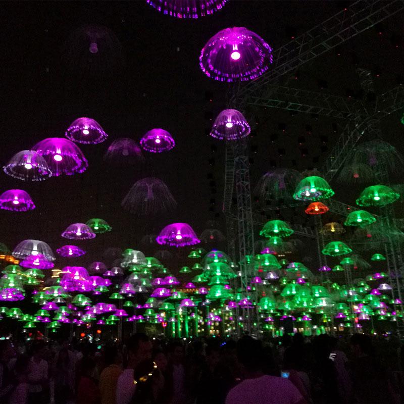 60CM Outdoor Fiber Optic LED String Lights Fairy Light Simulation Jellyfish Lamps Holiday Wedding Christmas Fairy String Light #