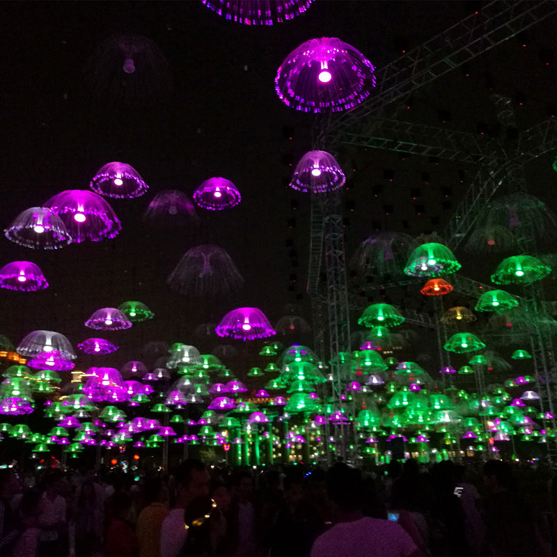 LED String Lights 60CM Outdoor Fiber Optic Fairy Light Simulation Jellyfish Lamps Holiday Wedding Christmas Fairy String Light