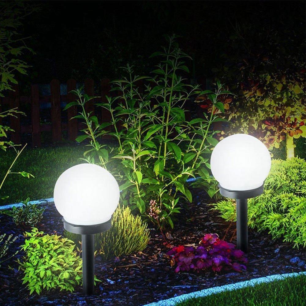 4 Pack Outdoor Solar Lights LED Solar Globe Light Waterproof Solar Garden Light for Yard Patio Walkway Landscape In-Ground Spike