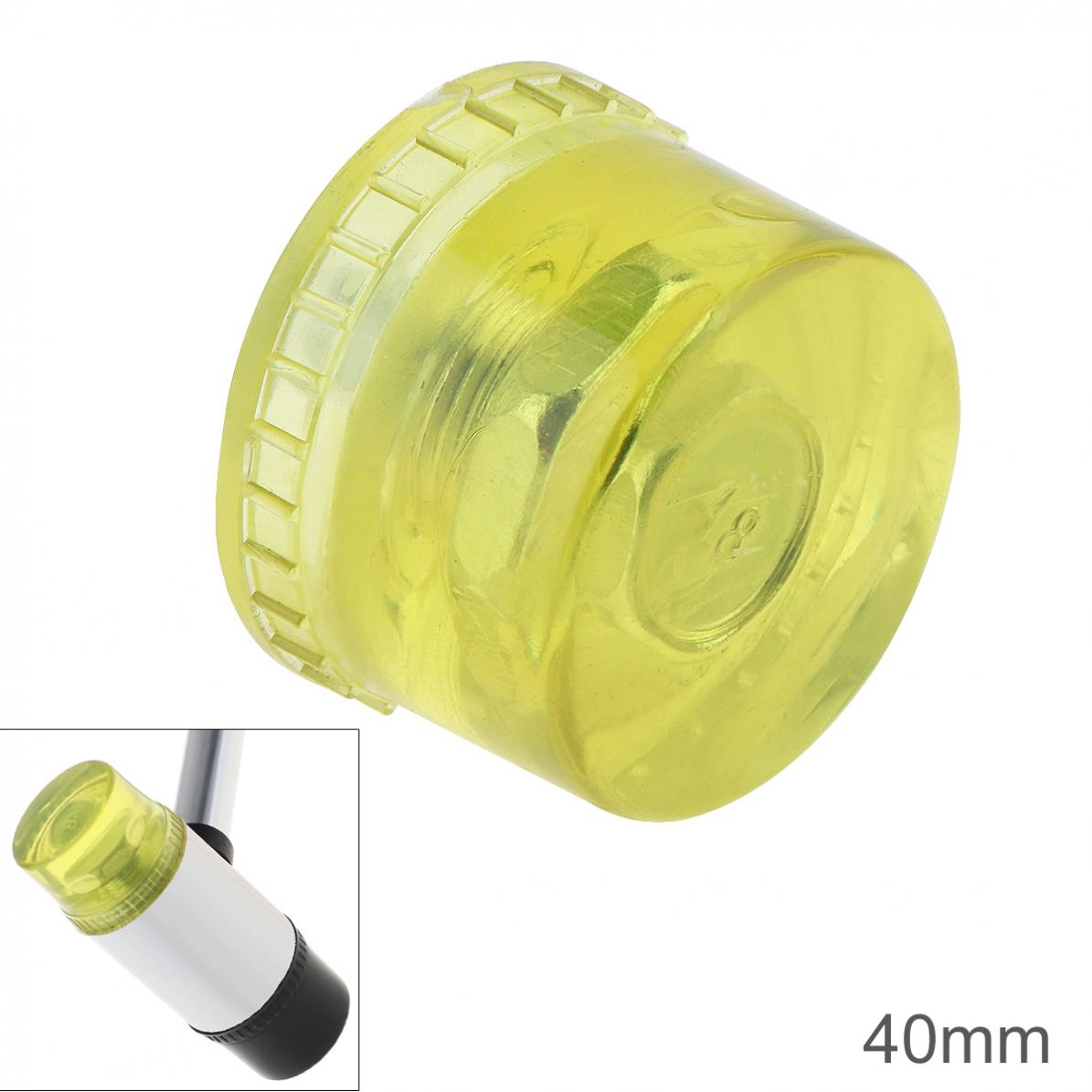 40mm Rubber Hammer Head Double Faced Work Glazing Window Beads Hammer with Replaceable Hammer Head Nylon Head Mallet Tool