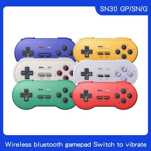 8bitdo SN30 Contrôleur Sans Fil de Bluetooth couleur arc en ciel Soutien Nintendo Switch Android MacOS Gamepad