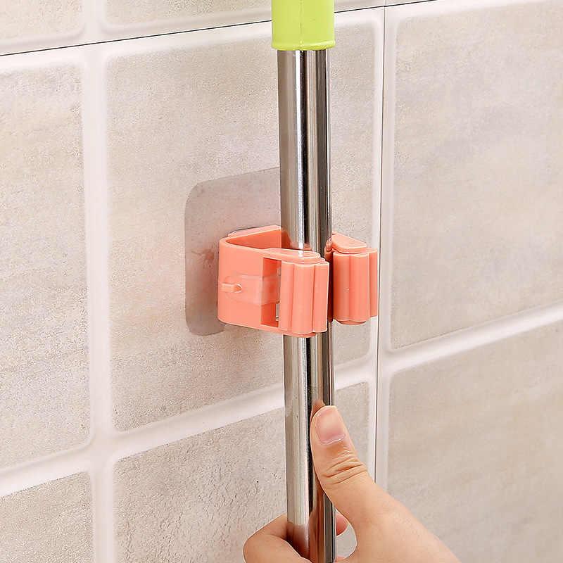 Wieszak na mopa do montażu na ścianie uchwyt na mopa uchwyt na miotłę wieszak półka haczyk na Organizer gospodarstwa domowego Organizer do kuchni akcesoria łazienkowe