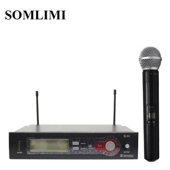 SOM SLX4 High Quality UHF Long Distance Professional Wireless Microphone Home KTV Karaoke Wedding Stage Performance Singing