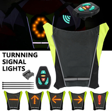 bike light Turnning Signal Bicycle Indicator Outdoor Hiking Camping Light Reflective Vest Safety LED Backpack