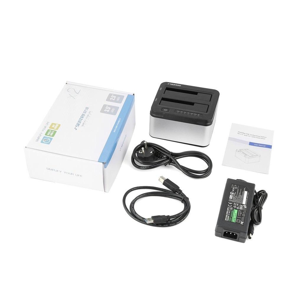 Professional SEATAY 2.5 Inch 3.5 Inch USB 3.0 SATA HDD Enclosure Case Hard Drive Disk HD622 HDD Dock Docking Station EU Plug