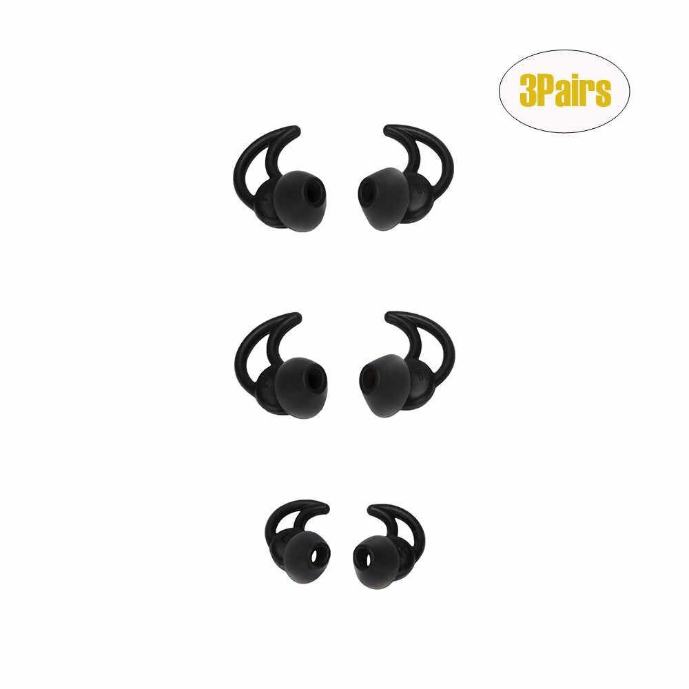 3 ペア耳芽ケースイヤチップ交換ノイズ分離シリコーンヒント Boses ため QC20 QC30 耳ヒントイヤホンセット