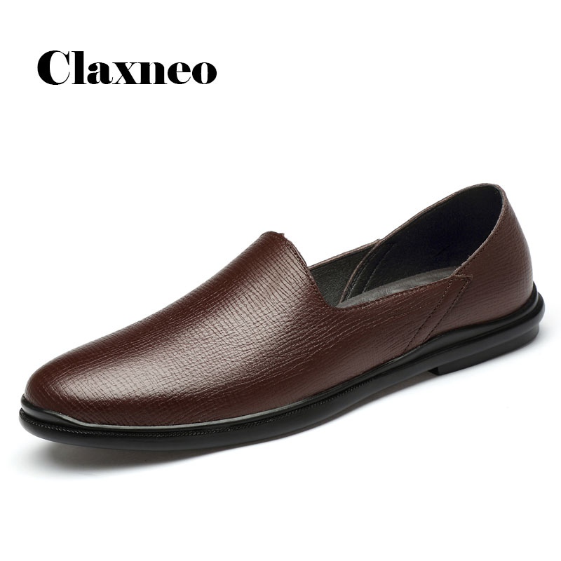 Man Boat Shoes Genuine Leather 2020 Summer Men's Shoe Loafers Flat Casual Moccasins Breathable Soft New Arrivals Big Size