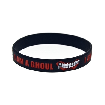 Fashion Japan Anime Tokyo Ghoul Silicone Rubber Bracelet Bangle Wristband Cosplay Jewerly Accessories Gift 1