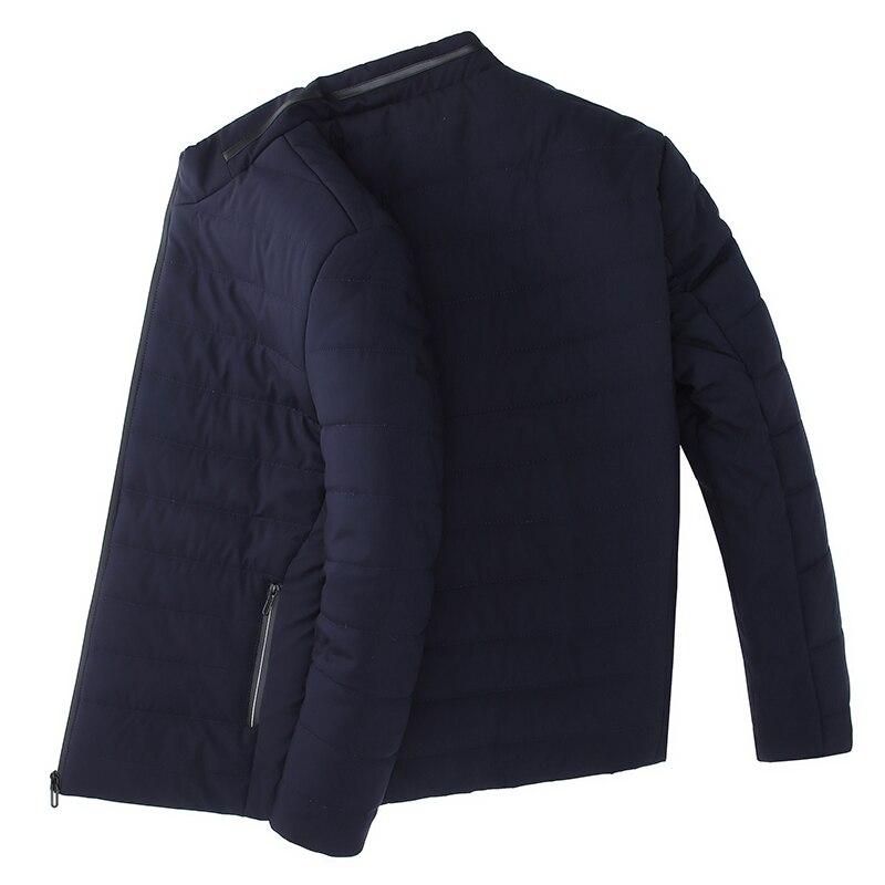 2019 épais hiver marque de mode vestes hommes Parka Streetwear coréen matelassé veste bouffante bulle manteaux hommes vêtements - 6