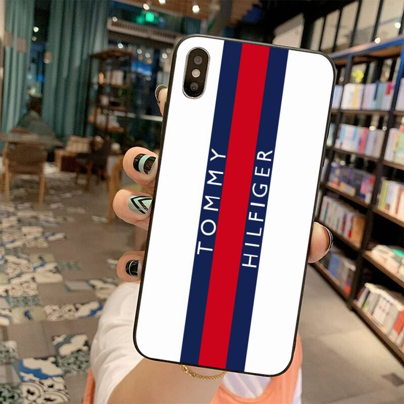 fashion trend tommy Phone Cover for iPhone 11 Pro X XS Max XR 5 6 6S 7 8 Plus Samsung Galaxy Note 9 10 S8 S9 S10 S20 Plus Ultra Mobile Accessories Mobiles Covers