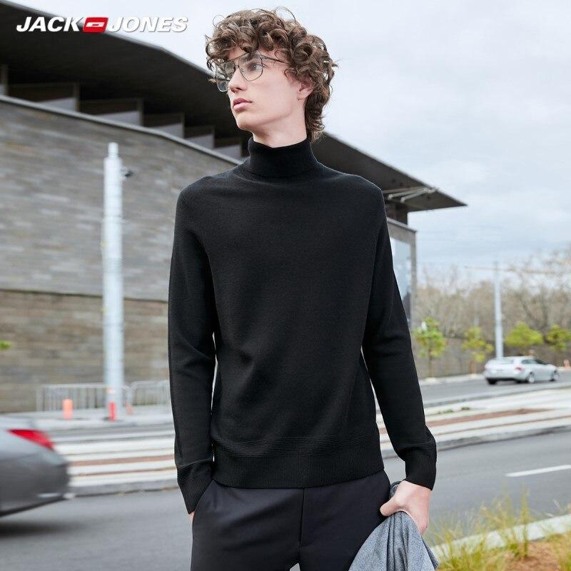 JackJones Men's Basic Multi-colored High-neck Woolen Knit Sweater| 219424504