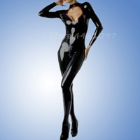 Fashion women Sexy latex catsuit with socks high quality nightclub party costume Halloween cosplay bodysuit(no corset)