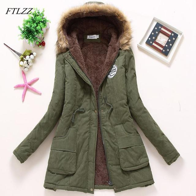 Ailegogo 2021 New Parkas Women Winter Coat Thickening Cotton Winter Jacket Womens Outwear Parkas For Female 2