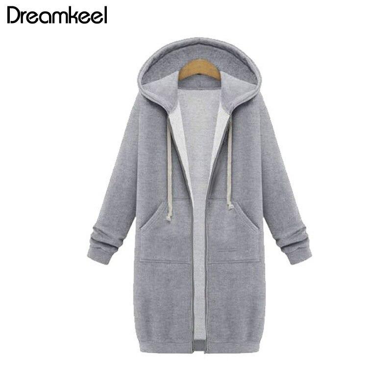 Autumn Winter Casual bts Hoodie Zipper Long Coat Sweatshirt