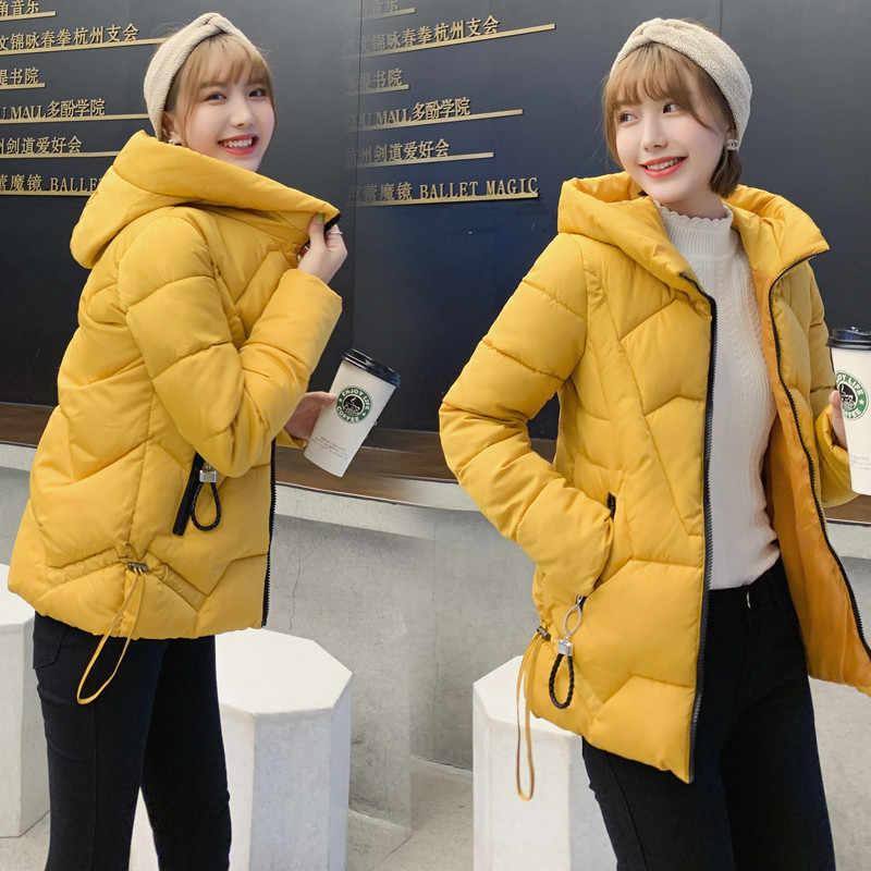 2019 neue Frauen Winter frauen Unten Baumwolle Jacke Mit Kapuze Warme Mantel Plus Größe 6XL Baumwolle Padded Jacke Weibliche Parka outwear R1093