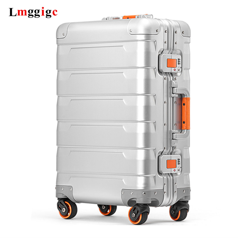 100% Full Aluminum Shell Travel Luggage Bag 20