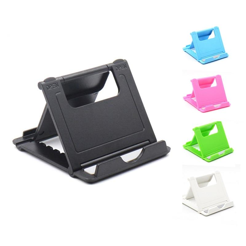 Foldable Cradle Universal Phone Holder Grip Bracket For Tablet Phone Stand Multi-angle Desktop Holder For Samsung For IPhone X 7