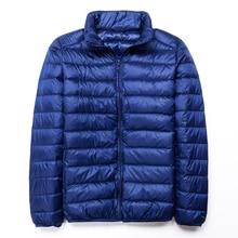 Winter Men Down Jackets Casual Stand Collar Ultra Light Down