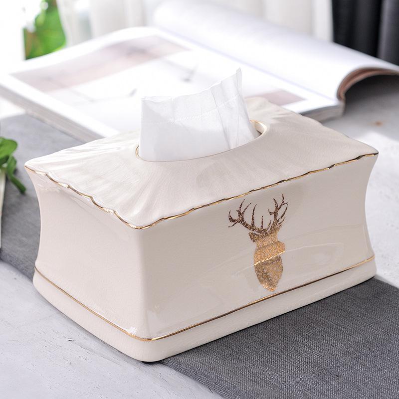 Купить коробка для салфеток из керамики европейская настольная салфетка