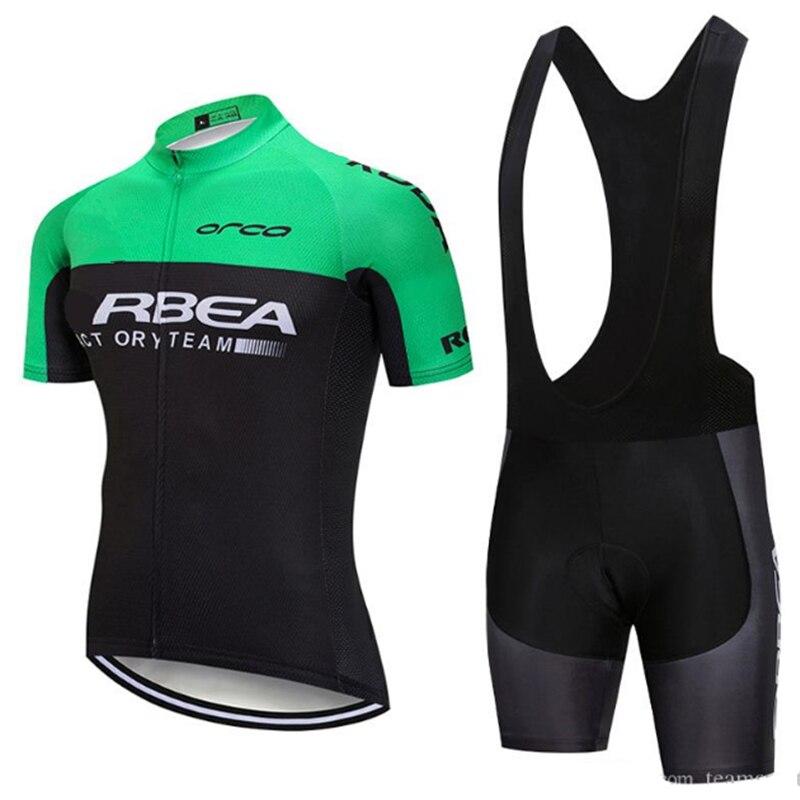 Zestawy rowerowe ORBEAING mężczyźni 2020 początkujący bluza ropa ciclismo koszulka z krótkim rękawem jazda na rowerze ubrania jeździeckie kombinezony na szelkach