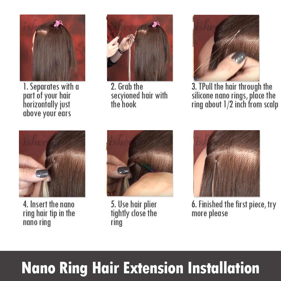 """Isheeny 613# Blonde Remy Nano Beads Hair Extensions 14"""" 18"""" 22"""" Straight European Hair Micro Ring On Capsule 50 pieces"""