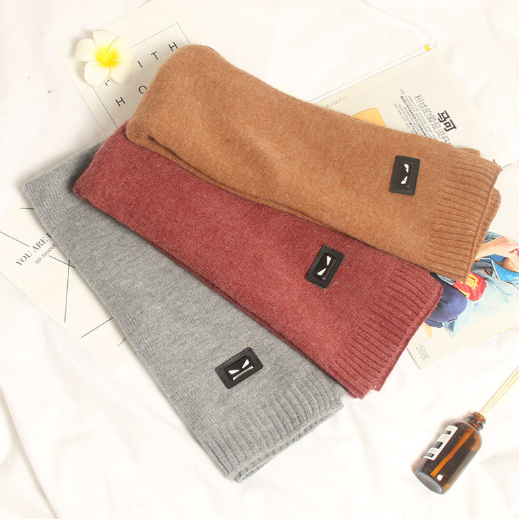 Autumn And Winter Faux Cashmere Little Monster Scarf Long Women's Thick Scarf Warm Students Scarf Manufacturers Direct Selling