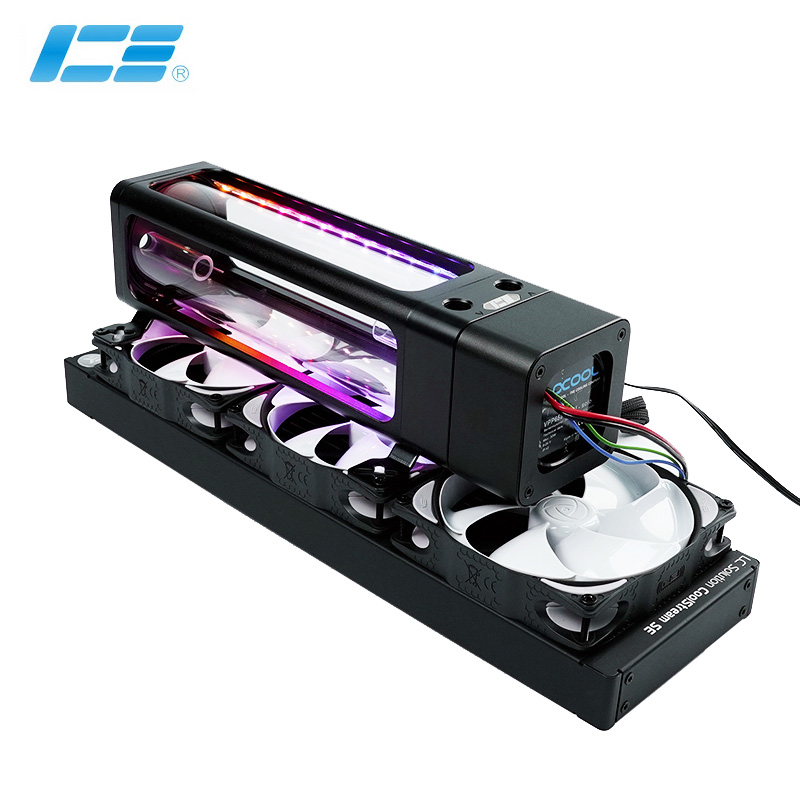 IceManCooler Water Cooling ARGB Tank Combo D5 Pump , Reservoir With Bracket ,+5V 3PIN Light Header Support Sync Motherboard