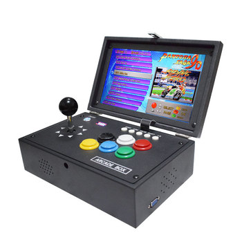 2020 IYO Pandora 9D 3001 Portable LCD Arcade Console Joystick Buttons PCB Board Retro Video Game Box Arcade Machine 2019 new king of fighters joystick consoles with multi game pcb board 1300 in 1 pandora box 6 arcade joystick game console