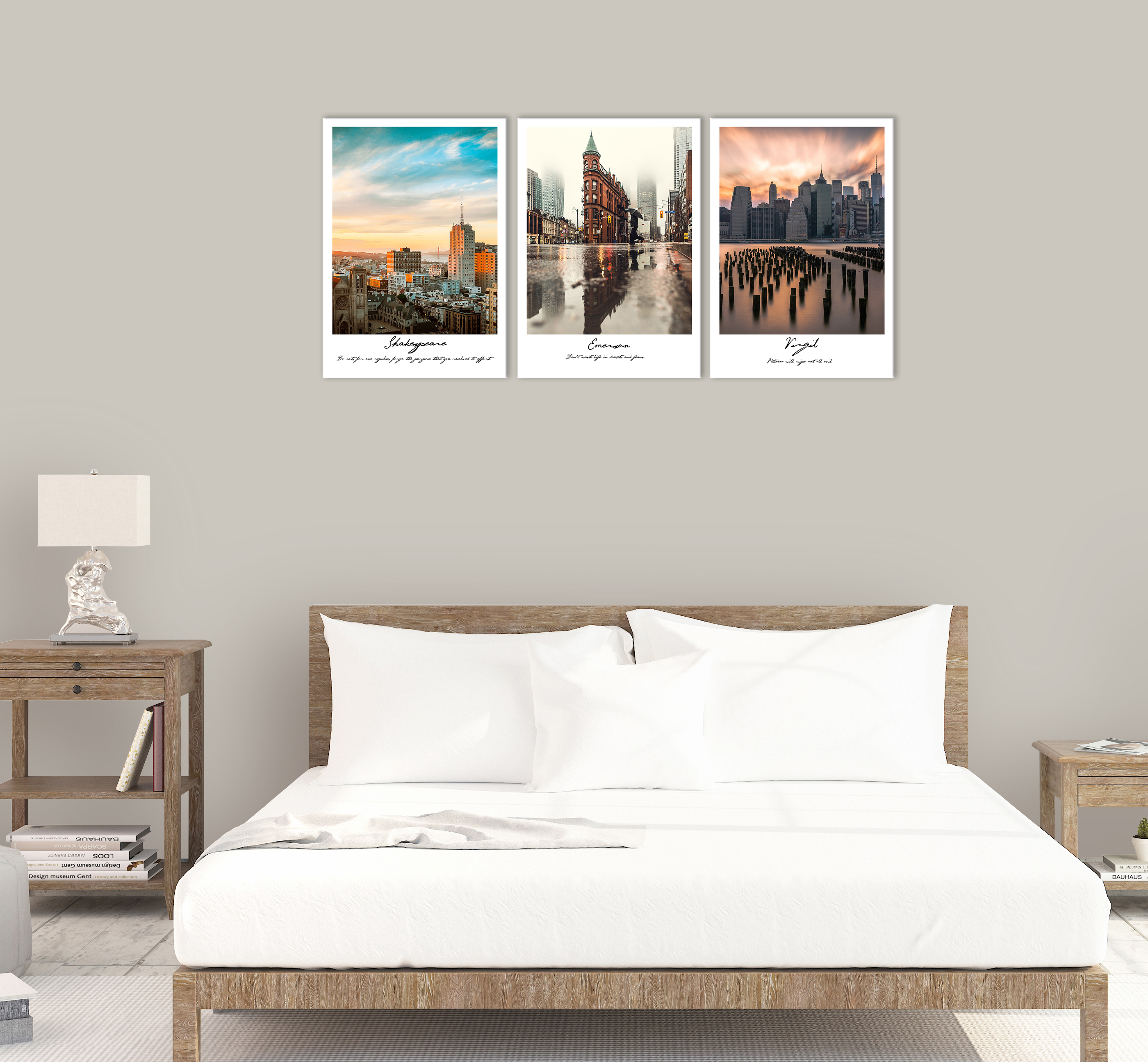 Sunset America City Wall Art Decor Times Square New York Building Canvas Painting Skyline Street People Print Pictures for Home in Painting Calligraphy from Home Garden
