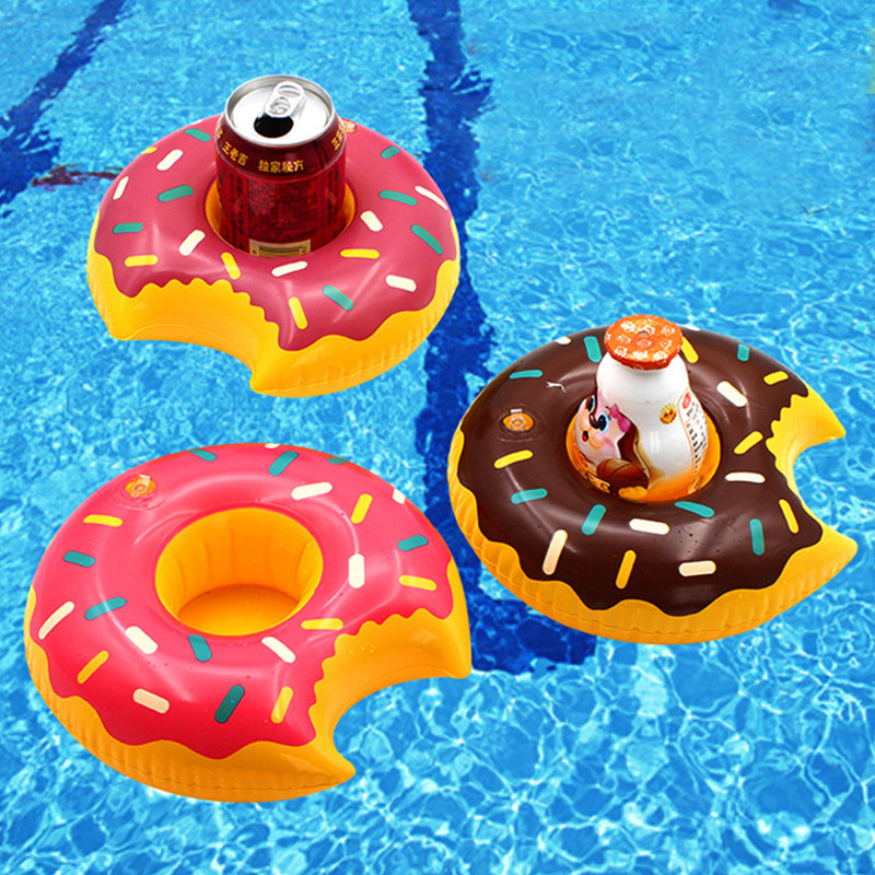 Inflatable Floating Tray Lote Drink Float Donuts Cup Holder Swimming Pool Party Toys Beer Bottle Beverage Coaster