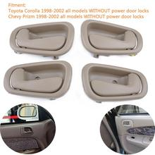 Dragonpad Inside Interior Door Handle Replacement OE:69205-02050RH/69206-02050LH#4-7 for Corolla 98-02 Left + Right