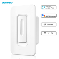 WiFi Smart Light Dimmer Wall Switch US Standard SmartLife Tuya APP Remote Voice Control Compatible with Alexa Google Home IFTTT
