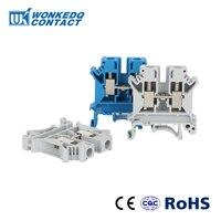 10Pcs UK-6N Din 레일 단자대 범용 클래스 커넥터 나사 고정 터미널 UK6N 와이어 커넥터