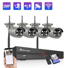 Techage 8CH 1080P Draadloze Camera Nvr Systeem 2MP Wifi Ip Camera Two Way Audio Geluid Video Waterdichte Beveiliging Surveillance kit