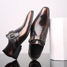 38 48 heren formele schoenen Stijlvolle zakelijke Gentlemans comfortabele formele schoenen mannen # R2512