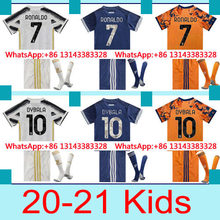Thai melhor qualidade 20-21 personalizado frete grátis juventus 2020 camisa superior das crianças melhor venda + meia 2021