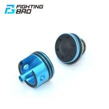 Fightingbro super silencioso cabeça do cilindro pistão cnc alumium liga para airsoft v2 caixa de velocidades paintball m4 aeg pistola ar gel blaster