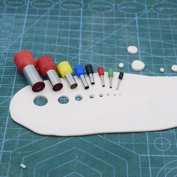 8 sztuk mini glina frezy kolczyk otwór Hollow okrągły zrobić narzędzia garncarskie glina polimerowa narzędzia i materiały glina wytłaczarki 1mm-11mm tanie i dobre opinie CN (pochodzenie) steel make earring hole hollow making